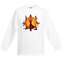 Yoga Wheel Meditation Children's Unisex Sweatshirt Jumper
