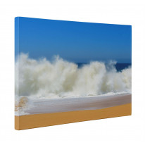 Waves Crashing Lovers Beach Seascape Box Canvas Print Wall Art - Choice of Sizes