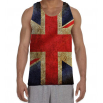 Union Jack British Flag Men's All Over Graphic Vest Tank Top