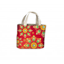 Tibetan Flowers Background Tote Shopping Bag For Life