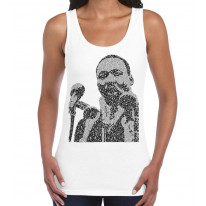 Martin Luther King Microphone Design Women's Tank Vest Top