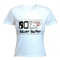 80 Year Old Silver Surfer 80th Birthday Women's T-Shirt
