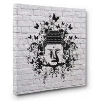 Buddha Butterfly Box Canvas Print Wall Art - Choice of Sizes