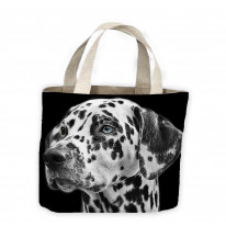 Dalmation Head Tote Shopping Bag For Life