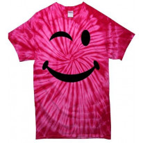 Winking Smiley Face Tie Dye T-Shirt
