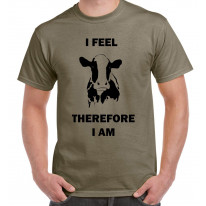 I Feel Therefore I Am Vegetarian Men's T-Shirt