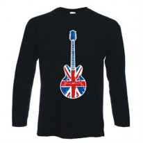Union Jack Guitar Long Sleeve T-Shirt
