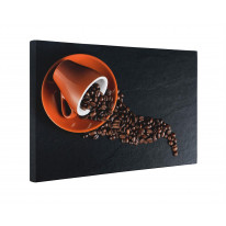Coffee Beans in Cup Box Canvas Print Wall Art - Choice of Sizes