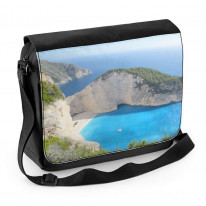 Zante Shipwreck Bay Greece Laptop Messenger Bag