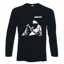 Banksy Hoodie With Knife Long Sleeve T-Shirt