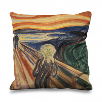 Edvard Munch The Scream Faux Silk 45cm x 45cm Sofa Cushion