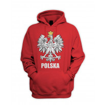 Polish Eagle Polska Flag Men's Pouch Pocket Hoodie Hooded Sweatshirt