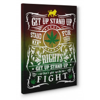 Get Up Stand Up Box Canvas Print Wall Art - Choice of Sizes