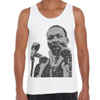 Martin Luther King Microphone Design Men's Tank Vest Top
