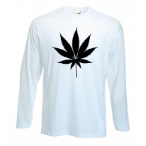 Marijuana Cannabis Leaf Long Sleeve T-Shirt