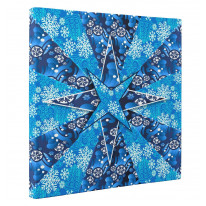 Abstract Christmas Snowflake Box Canvas Print Wall Art (16 x 16)