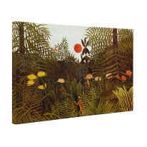 Henri Rousseau Virgin Forest with Setting Sun Box Canvas Print Wall Art - Choice of Sizes