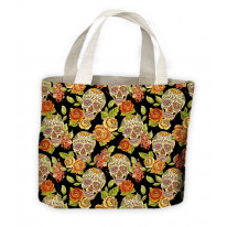 Sugar Skull Skeleton Tote Shopping Bag For Life