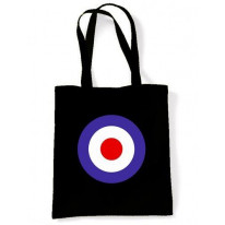 Black Mod Target Shoulder Bag