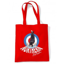 Northern Soul Dancer Mod Target Shoulder Shopping Bag
