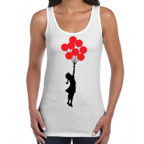 Banksy Balloon Girl Women's Tank Vest Top