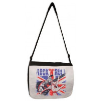 Rock 'N' Roll Union Jack Laptop Messenger Bag