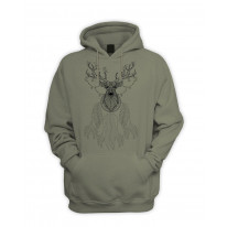 Dreamcatcher With Stags Head Hipster Men's Pouch Pocket Hoodie Hooded Sweatshirt