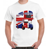 London Bus Union Jack Mens T-Shirt