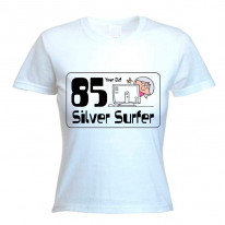 85 Year Old Silver Surfer 85th Birthday Women's T-Shirt
