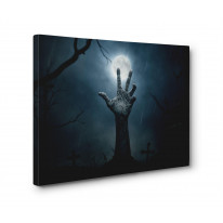 Zombie Hand Print Box Canvas Print Wall Art - Choice of Sizes