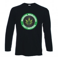 Medical Marijuana 100% Natural Long Sleeve T-Shirt
