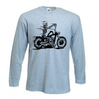 Skeleton Biker Long Sleeve T-Shirt
