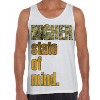 Higher State Of Mind Cannabis Large Print Men's Vest Tank Top