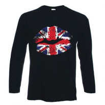 Union Jack Lips Long Sleeve T-Shirt