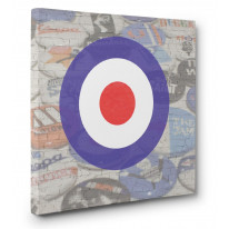 Mod Target Canvas Print Wall Art - Choice Of Sizes
