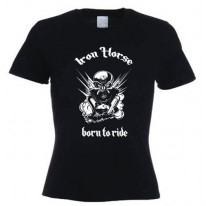 Iron Horse Born To Ride Women's T-Shirt