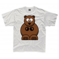 Cartoon Grizzly Bear Children's Unisex T Shirt