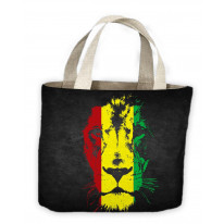 Lion Of Judah Rasta Colours Reggae Tote Shopping Bag For Life
