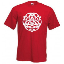 Celtic Knot White Print Mens T-Shirt