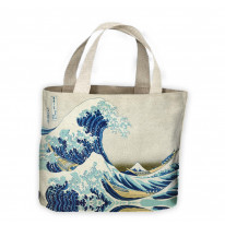 Hokusai The Great Wave off Kanagawa Tote Shopping Bag For Life