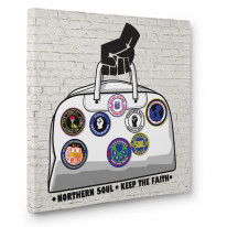 Northern Soul Badges Holdall Canvas Print Wall Art - Choice Of Sizes