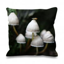 Mushrooms Wild Forage Faux Silk 45cm x 45cm Sofa Cushion
