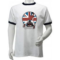 Skinhead Girl Union Jack Men's Ringer T-Shirt