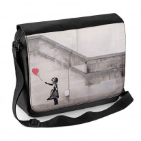 Banksy Girl With Heart Balloon Laptop Messenger Bag