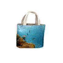Fish Swimming Under Water Tote Shopping Bag For Life
