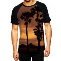 Paradise Sunset Thailand Men's All Over Graphic Contrast Baseball T Shirt