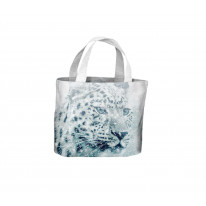 Leopard Face in Snow Tote Shopping Bag For Life