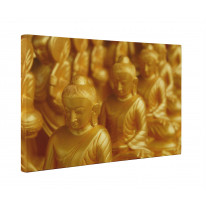 Golden Buddha Statues Box Canvas Print Wall Art - Choice of Sizes