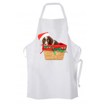 Springer Spaniel Santa Claus Father Christmas Chef's Kitchen Apron