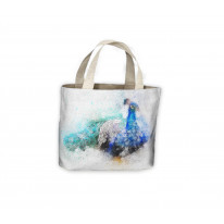 Peacock Drawing Tote Shopping Bag For Life
